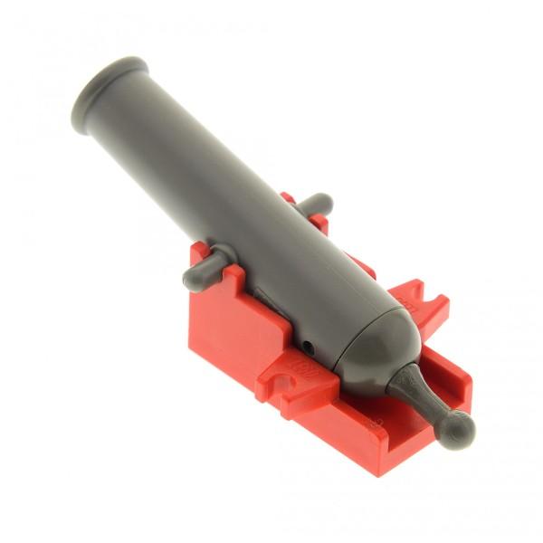1 x Lego System Kanone alt-dunkel grau Halter rot Cannon Base 2x4 Schiff Boot Burg Castle Pirat Piraten 4540534 2533c01 x110c01 2527