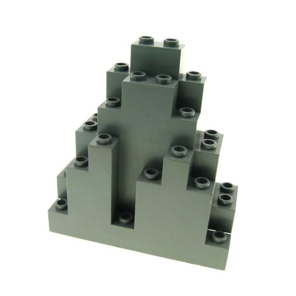 1 x Lego System Fels neu-dunkel grau Felsen Panele Berg Stein Rock Mauer Wand Burg Castle Harry Potter 6083