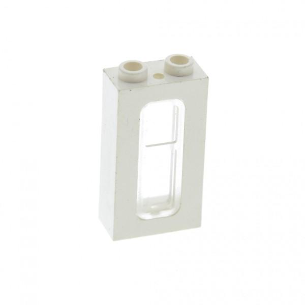 1 x Lego System Fenster weiß transparent weiss 1 x 2 x 3 Rahmen Scheibe Zug Eisenbahn Haus für Set 6972 10185 5580 4552 6990 4035 4036