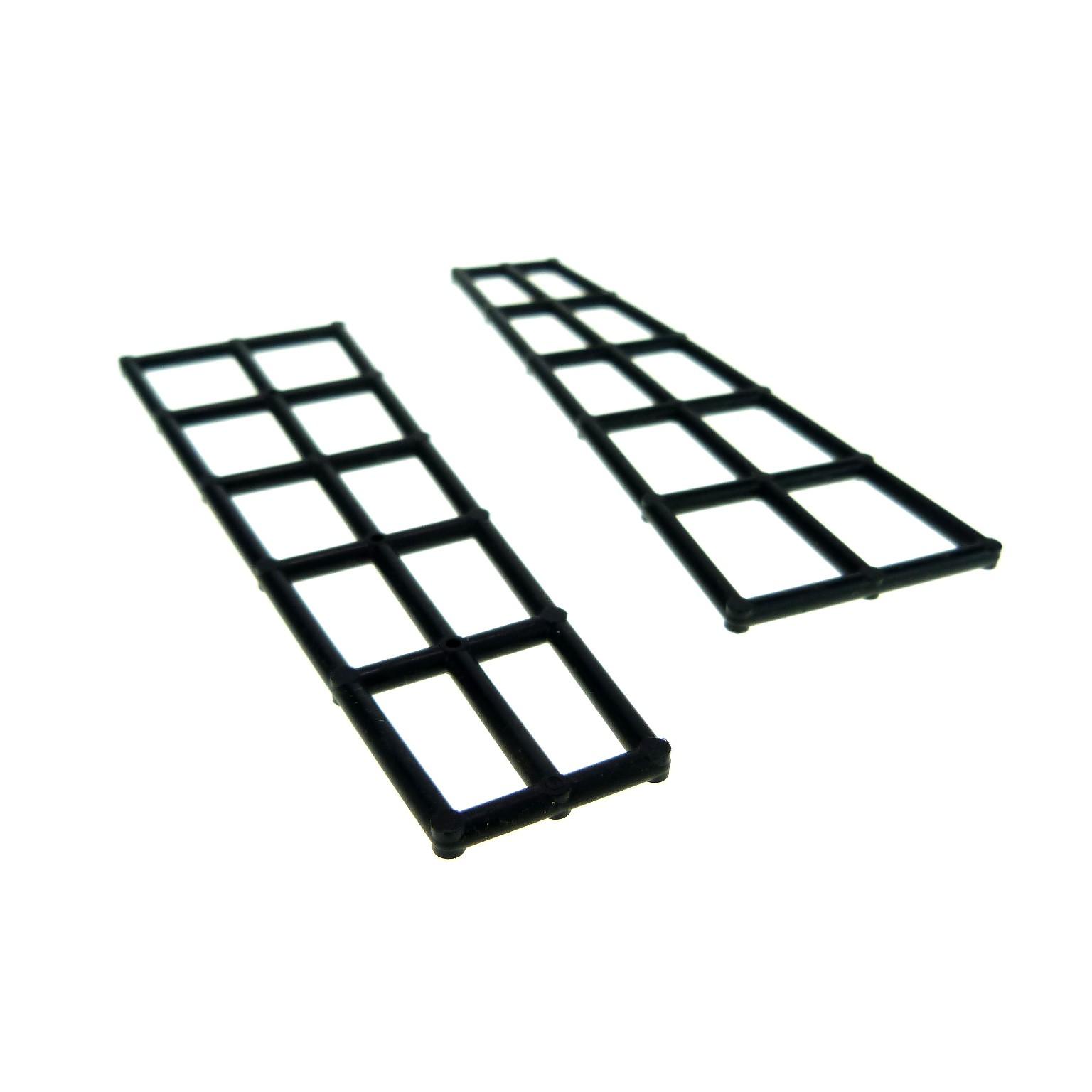 2 x  Lego System Takelage Wanten schwarz kurz 5x16 Schiff Mast Boot Segel 6057