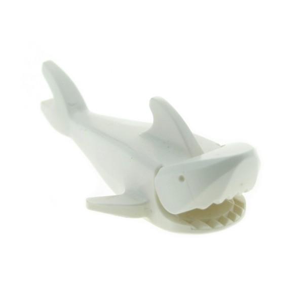 1x Lego Tier Hai Fisch Shark creme weiß Unterseite 1x2 Stein Ausschnitt 2547c01