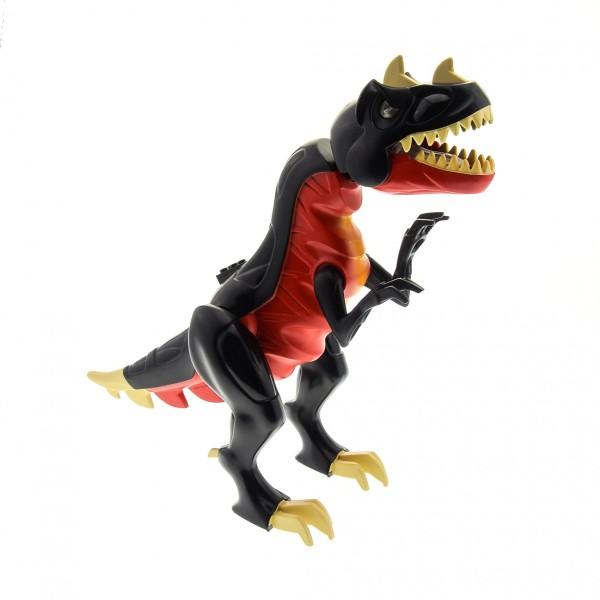 1 x Lego System Tier T - Rex rot schwarz Dino 2010 Dinosaurier Raptor groß leuchtende Augen geprüft 7298 7477 TRex01