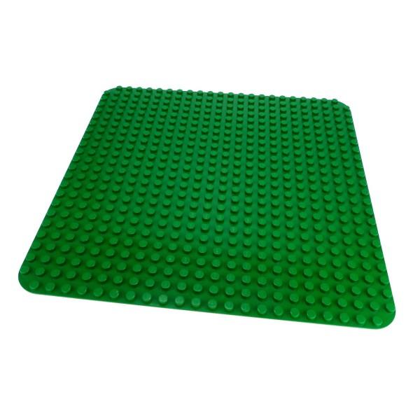 1 x Lego Duplo Bau Platte B-Ware beschädigt Basic Platte 24x24 grün 24 x 24 Noppen Wiese Rasen groß 2304 4219842 353 4268 34278