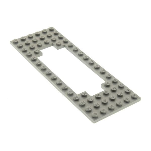 1 x Lego System Zug Bau Platte alt-hell grau 6x16 Motor Ausschnitt breit Lok Rahmen Eisenbahn Waggon Train Set 120 138 122 371 119 127 3058b