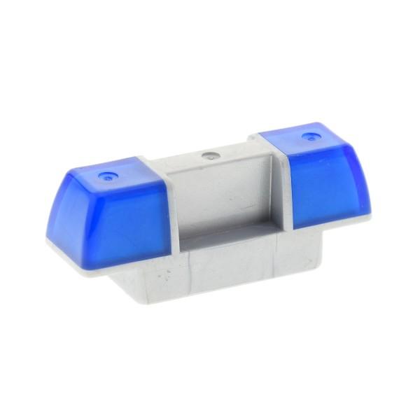 1 x Lego Duplo Auto Sirene Blau Licht transparent dunkel blau perl hell grau Warn Leuchte PKW Fahrzeug Polizei Feuerwehr LKW Set 4691 9229 4293315 2318c01