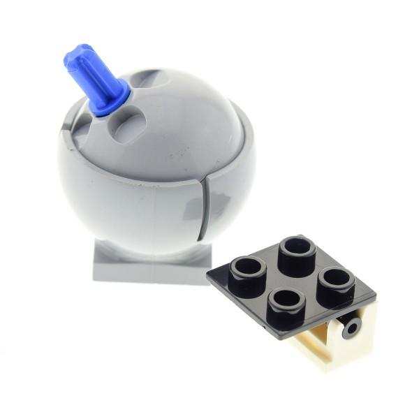 1 x Lego System Zylinder Hemisphere neu-hell grau Kugel Sockel 2x2 Turm Kuppel 3x3 mit Scharnier Star Wars 6134 3937 44359 44358