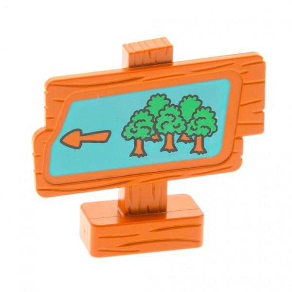 1 x Lego Duplo Disney Winnie the Pooh Schild Wegweiser Wald braun Puh Bär für Set 2983 2987 31283pb02