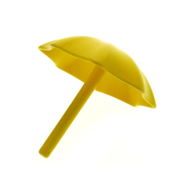 1 x Lego Duplo Schirm gelb Garten Sonnen Regenschirm Puppenhaus Möbel Zubehör 2164