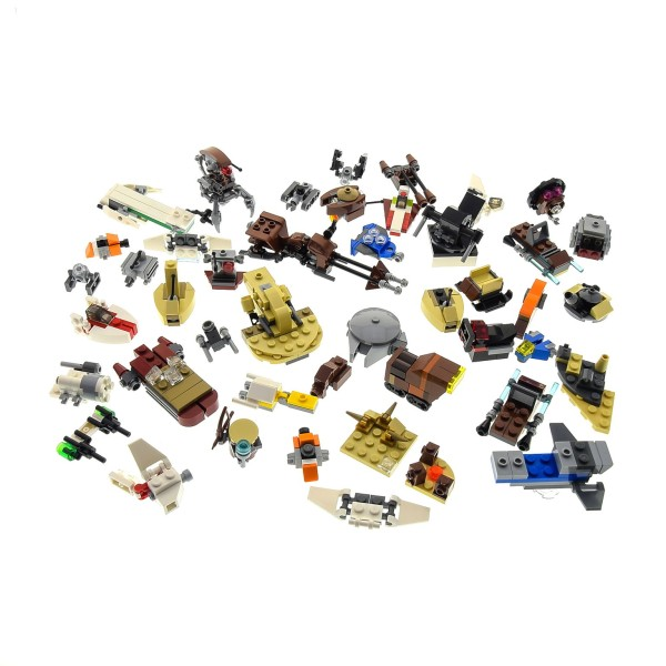 1 x Lego System Star Wars Mini Teile Set Modelle für Micro Raumschiffe 911611 AAT 911608 Landspeeder 55555 Millennium Falcon grau incomplete unvollständig