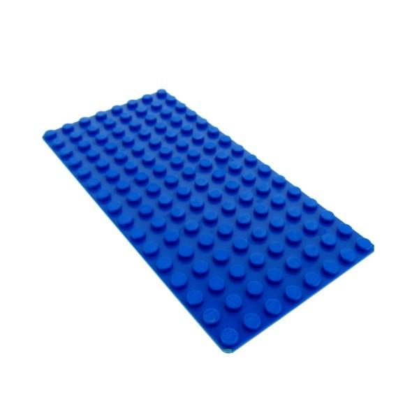 1 x Lego System Bau Platte 8 x 16 blau flach 16 x 8 Wasser 8x16 Set 6244 6248 3865
