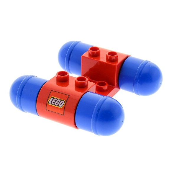1 x Lego Duplo Auto Fahrzeug Base rot mit Räder blau Fahrgestell Rennwagen Set 2400 31216a