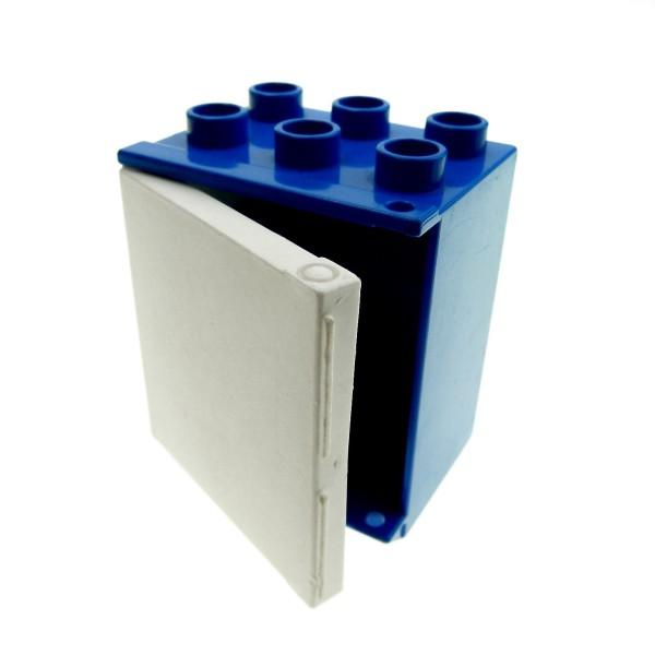 1 x Lego Duplo Möbel Kühlschrank blau weiss Eis Schrank Tür Puppenhaus Küche 4914c01