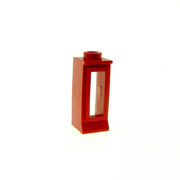 1 x Lego System Fenster Rahmen rot transparent weiss 1 x 1 x 2 Scheibe klein Haus Wild West Fensterbank kurz 365 29c01