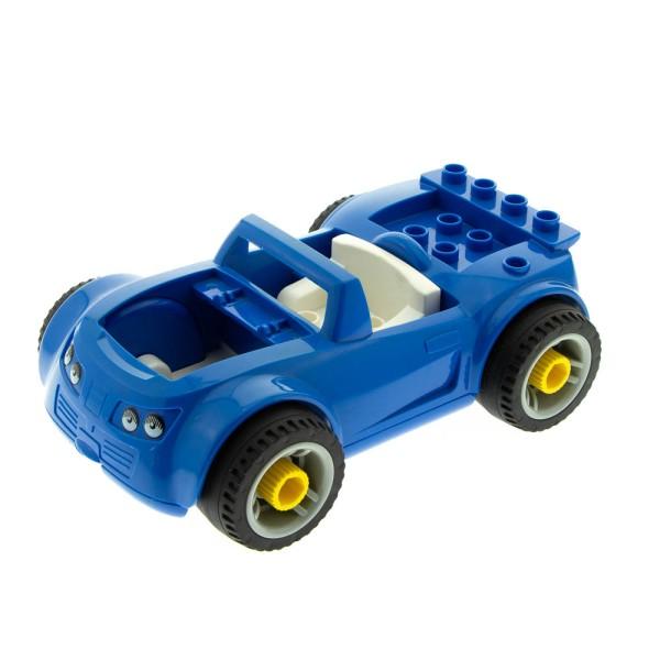 1x Lego Duplo Toolo Auto Cabrio blau B-Ware abgenutzt ohne Klappe 85353c02pb01