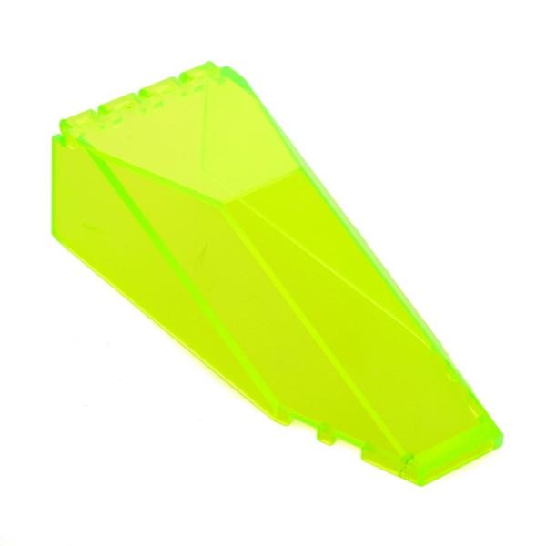 1 x Lego System Cockpit transparent neon grün gelb 10x4x2 windscreen Ufo Aquazone Kanzel Kuppel Fenster M Tron 6956 2162 2507