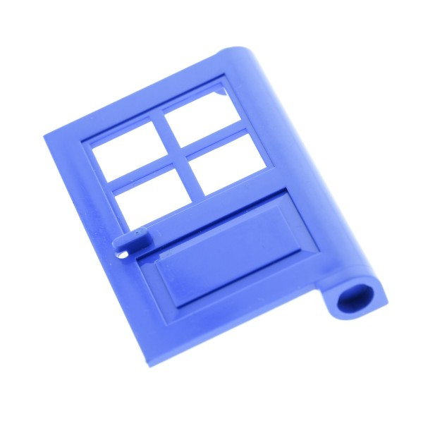 1 x Lego System Tür Blatt blau 1 x 4 x 5 mit 4 Scheiben Ausschnitte Haus Garten 3861