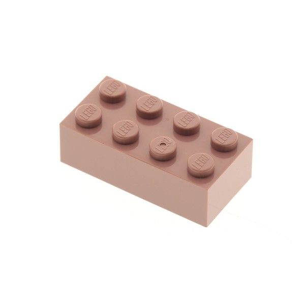1 x Lego System Bau Stein sand rot 2x4 Basis Basic Brick sandrot 10005 3001