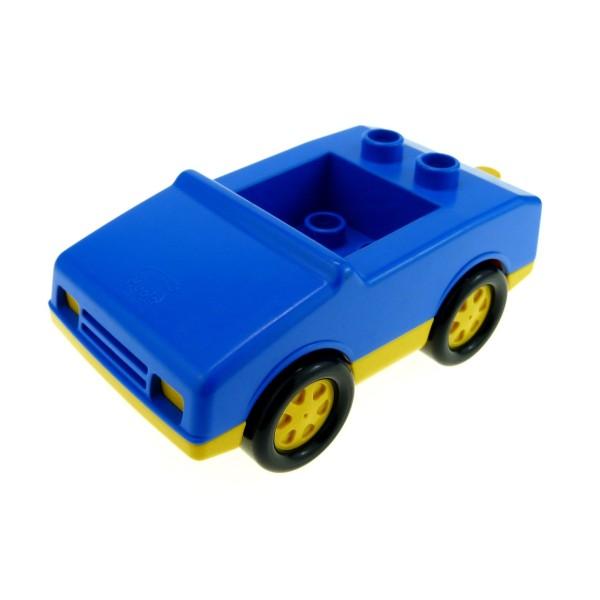 1 x Lego Duplo Fahrzeug Auto blau gelb PKW für Abschleppwagen 4 Noppen im Sitz klein 2235