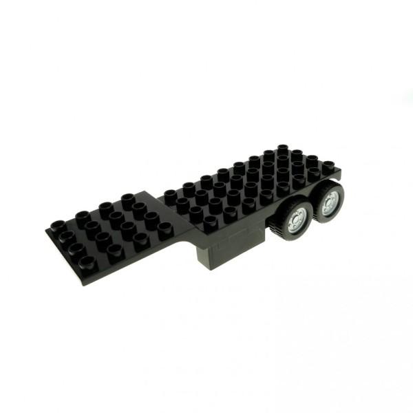 1 x Lego Duplo LKW Auflieger schwarz 4 x 12 Sattelzug Trailer Feuerwehr Fire Truck Ferrari 4977 4694 4503