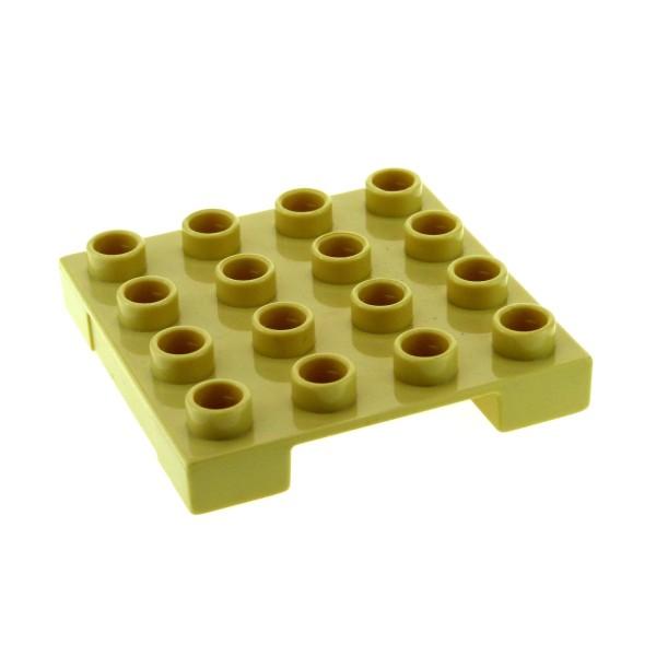 1 x Lego Duplo Platte Palette beige 4x4 für Cargo Baustelle Flughafen Eisenbahn Lifti Gabelstapler Bob der Baumeister 3297 4685 4988 3298 47415