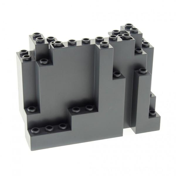 1 x Lego System Fels neu-dunkel grau 4x10x6 Felsen Brocken Stein Berg Wand Ritter Burg Castle 6082