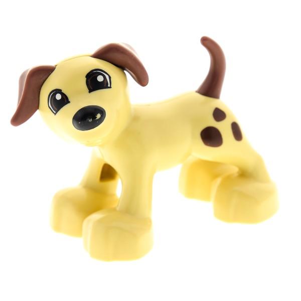 1 x Lego Duplo Tier Hund beige braun Punkte Flecken große Pfoten Bauernhof Zoo Zirkus neue Form 4499467 1396pb01