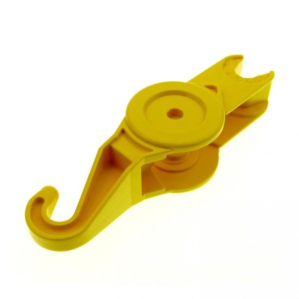 1 x Lego Duplo Toolo Arm Stein Haken gelb Verbinder Abschleppwagen 6295