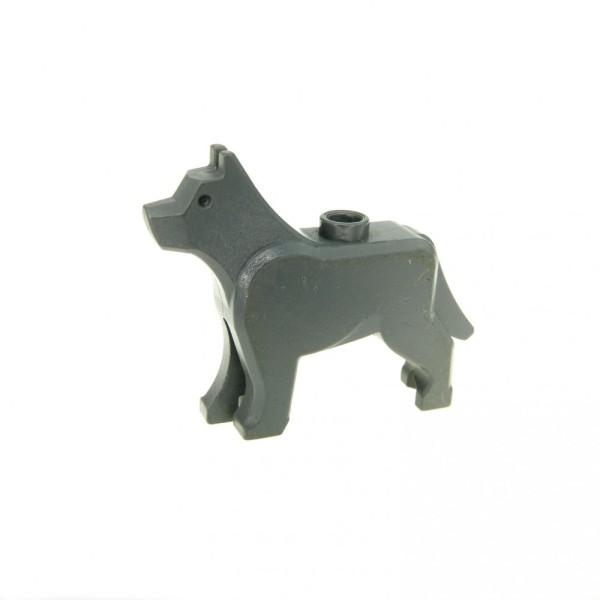 1 x Lego System Tier Hund neu-dunkel grau Dog Schäferhund Wolf Polizei Harry Potter Grim 4755 4756 7324 48812