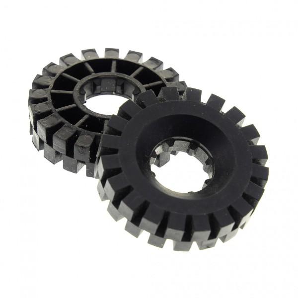 2 x Lego Technic Rad Reifen solo schwarz 17x43 Technik Räder Blacktron Classic Space 3804 9735 9786 6991 9684 363426 3634