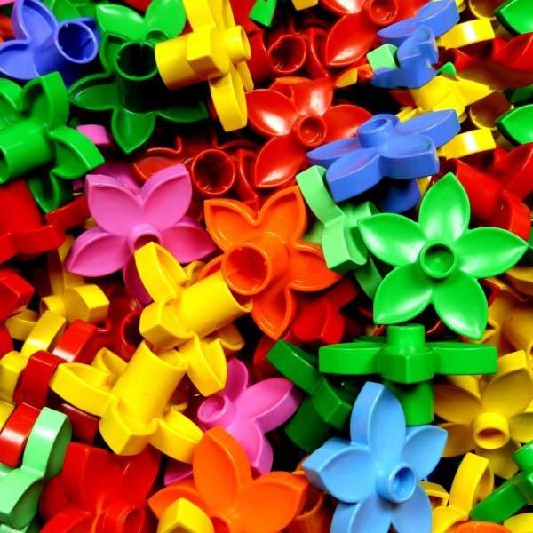 5 x Lego Duplo Blumen Farbe zufällig gemischt Blume Blüte Pflanze 6510