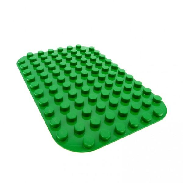 1 x Lego Duplo Bau Platte 8 x 12 grün 8x12 abgerundete Ecken Wiese Gras Rasen 4114722 31043
