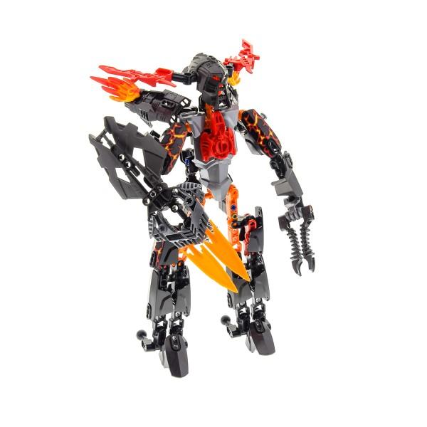 1 x Lego Bionicle Figur für Modell Technic Hero Factory Villains 2235 Fire Lord rot grau unvollständig