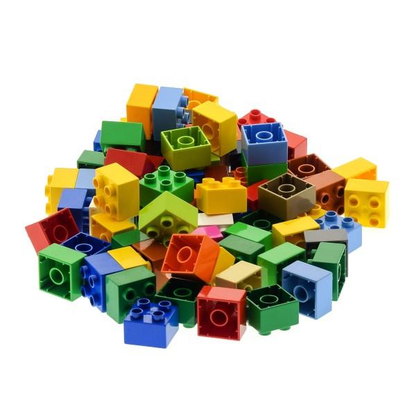 70 Teile LEGO DUPLO 4er BASIC BAUSTEINE Kiloware kg STEINE 2x2 Noppen 3437 bunt gemischt