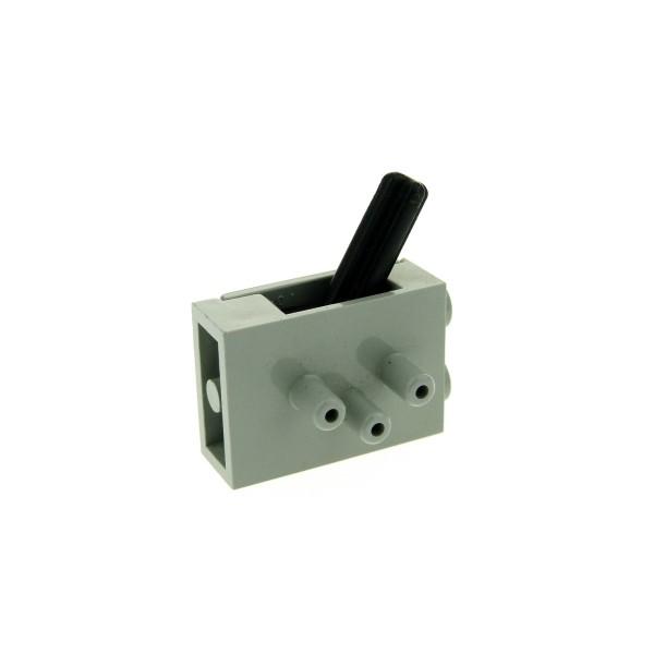 1 x Lego Technic Pneumatic Schalter Ventil alt-hell grau 3 Wege Umschaltventil Switch kurze Stutzen Luft Druck Pneumatik 4694c01
