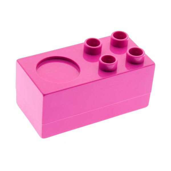 1x Lego Duplo Möbel Herd 2x4x2 dunkel pink 1/2 Küche Set 10505 6019240 6472