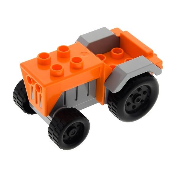 1x Lego Duplo Fahrzeug Traktor orange neu-hell grau Bauernhof Tier bb0966c01