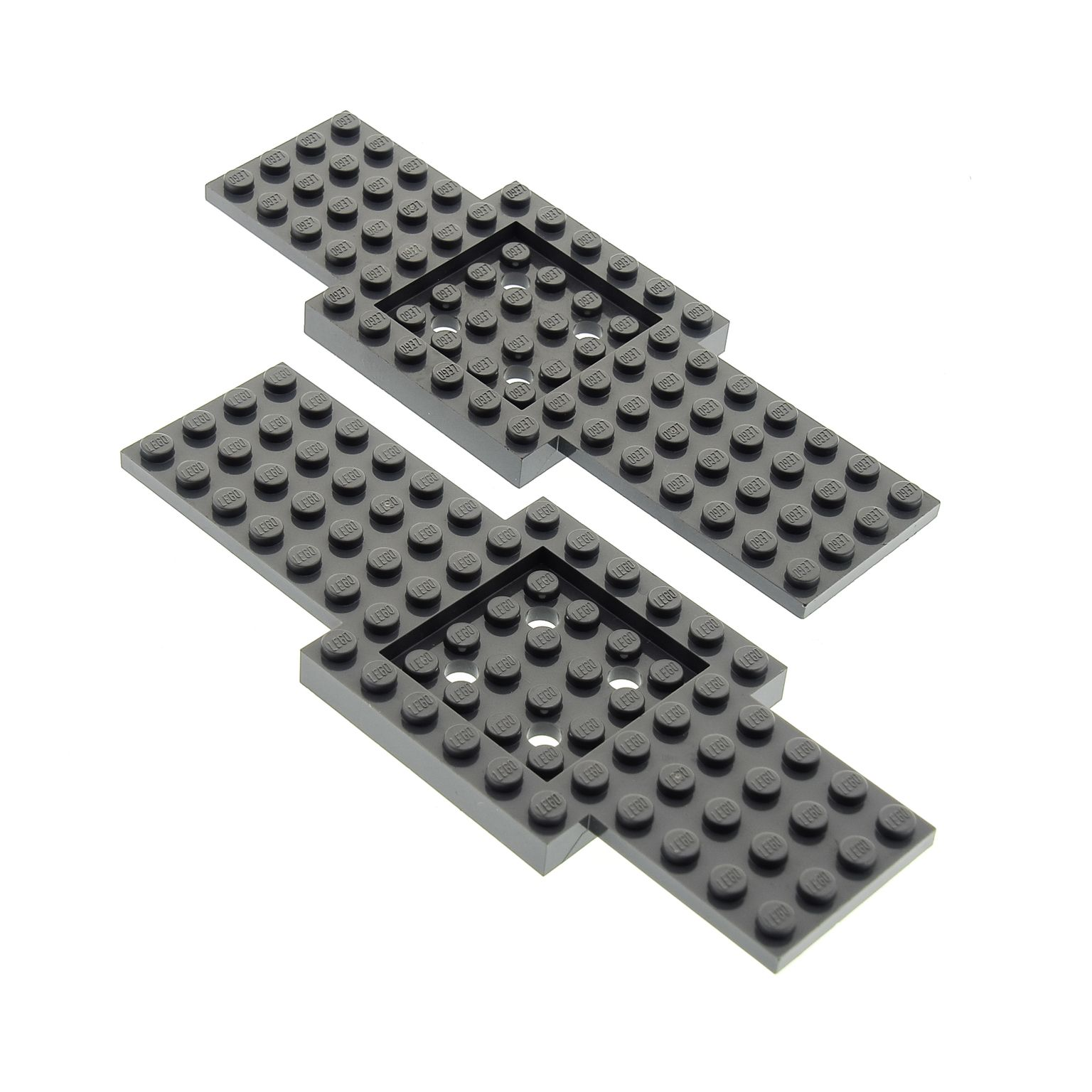 2x Lego Wing Plate Black 6x12 4143181 4143180 30356 30355