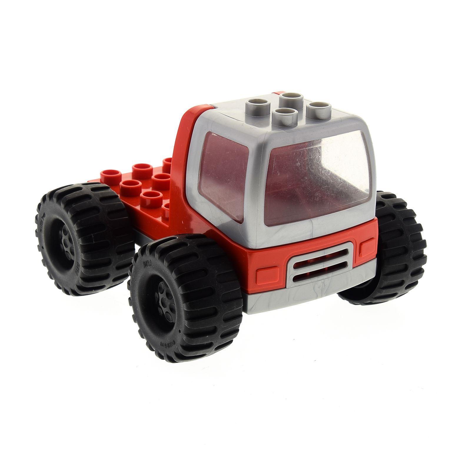 1x Lego Duplo Fahrzeug gelb schwarz Fenster Auto Reifen groß dupconcar 31077