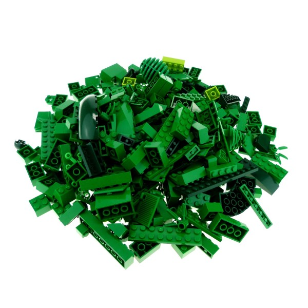 0,5 kg Lego System Basic Steine Sondersteine sortiert nach Farbe hell dunkel grün Kiloware Form der Steine zufällig gemischt 500 g Sortierung