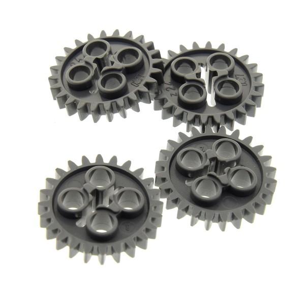 4 x Lego Technic Zahnrad neu-dunkel grau z24 Zahnräder Zähne Rad Technik 4514558 24505 3648
