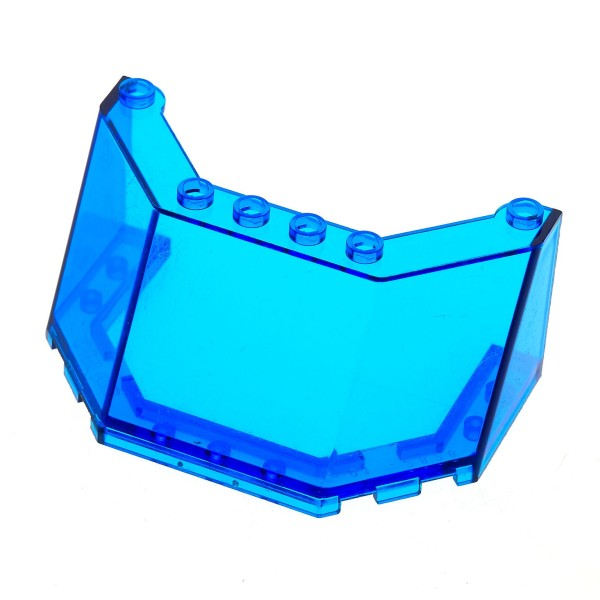 1 x Lego System Windschutzscheibe transparent dunkel blau 5x8x3 Kanzel Cockpit Fenster 2826