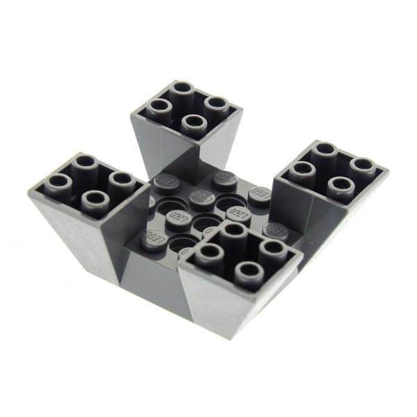 1 x Lego System Mauerteil neu-dunkel grau 6x6x2 Zinnen Turm Burg Castle 4479 7146 7150 7152 4210640 30373