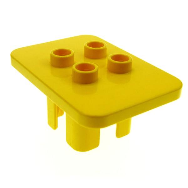 1 x Lego Duplo Möbel Tisch gelb eckig Puppenhaus Küche Wohnzimmer Ritter Burg Set 2683 3090 9168 647924 6479