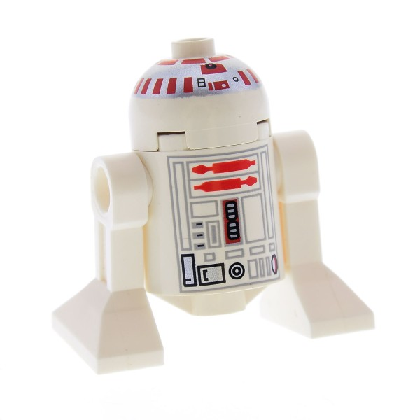 1 x Lego System Figur Droide rot weiß Star Wars Droid R5-D4 weiss R5 D4 Astromechdroide R5 D4 7150 7152 10134 7658 sw029