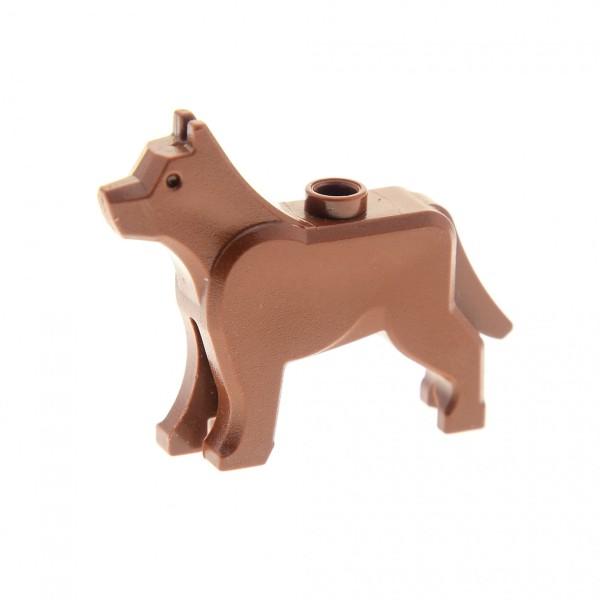 1 x Lego System Tier Hund reddish rot braun Dog Schäferhund Polizei Bauernhof Feuerwehr 10176 7744 10797 4261047 48812