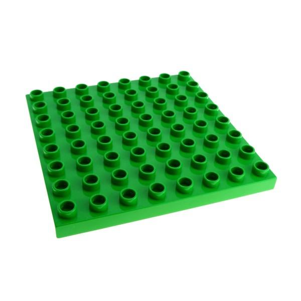 1x Lego Duplo Bau Platte 8x8 hell grün Zoo Farm Set 5649 3596 4246953 51262