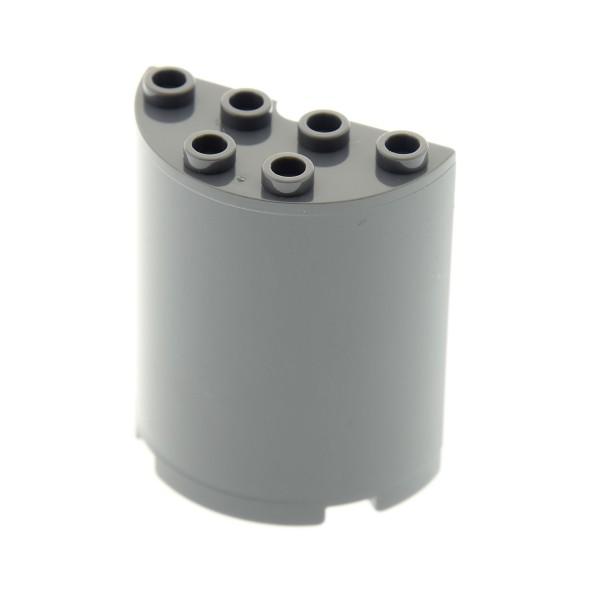 1 x Lego System Zylinder neu-dunkel grau 2x4x4 halb rund Panele Stein Ufo Wand Mauer SW 4533334 6259