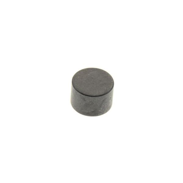 1 x Lego System Magnet Stein schwarz rund klein ohne Zylinder für Eisenbahn Zug Kupplung Magnetstein 73092*