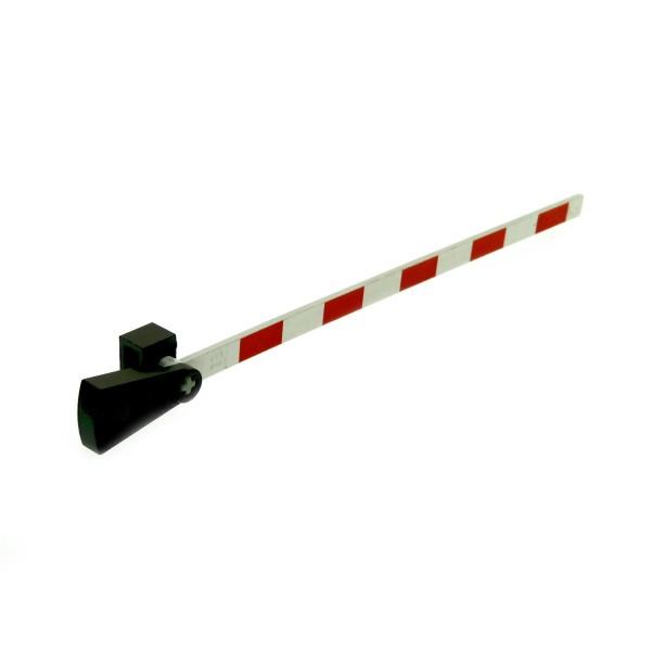 1 x Lego System Eisenbahn Schranke weiss rot Bahnübergang Schiene Metall Gegen Gewicht Zug Gleis Set 4539 7835 7866 70163 4512pb01