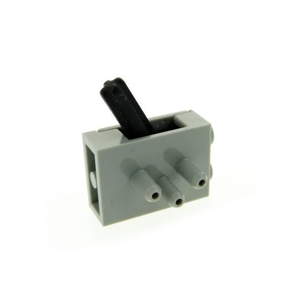 1 x Lego Technic Pneumatic Schalter Ventil alt-hell grau 3 Wege Umschaltventil Switch lange Stutzen Luft Druck Set 8438 8459 8462 4694c01